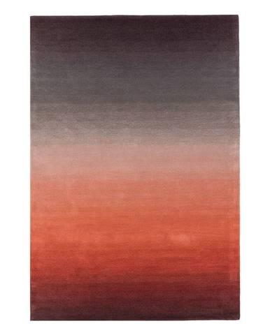 Červeno-sivý koberec Asiatic Carpets Ombre, 120 x 170 cm