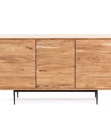 Svetlohnedá komoda z akáciového dreva La Forma Delsie, 147 x 81 cm