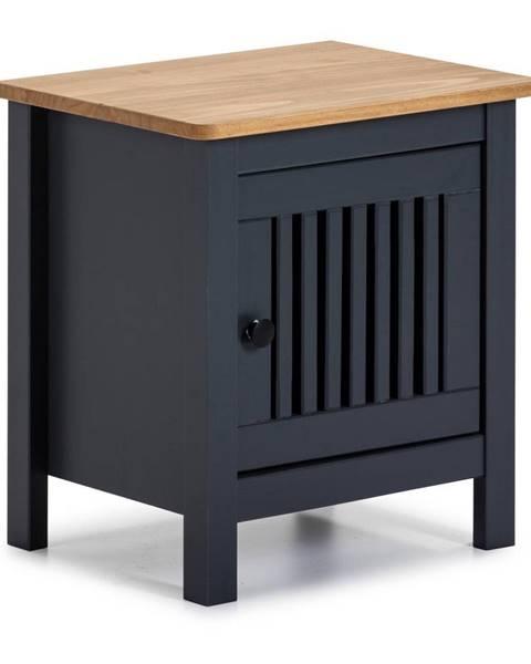 Marckeric Sivý drevený nočný stolík Marckeric Bruna
