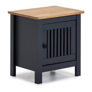 Sivý drevený nočný stolík Marckeric Bruna