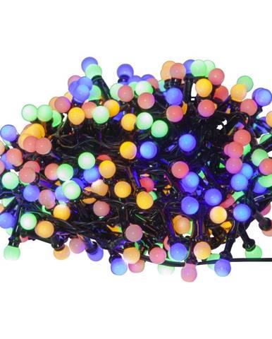 Farebná vonkajšia svetelná LED reťaz Best Season Berry Mini, 300 svetielok