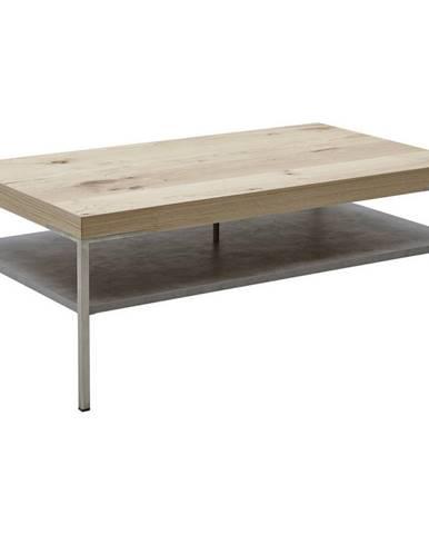 Moderano KONFERENČNÝ STOLÍK, farby dubu, hrdzavá, drevo, kov, kompozitné drevo, 110/42/65 cm - farby dubu, hrdzavá
