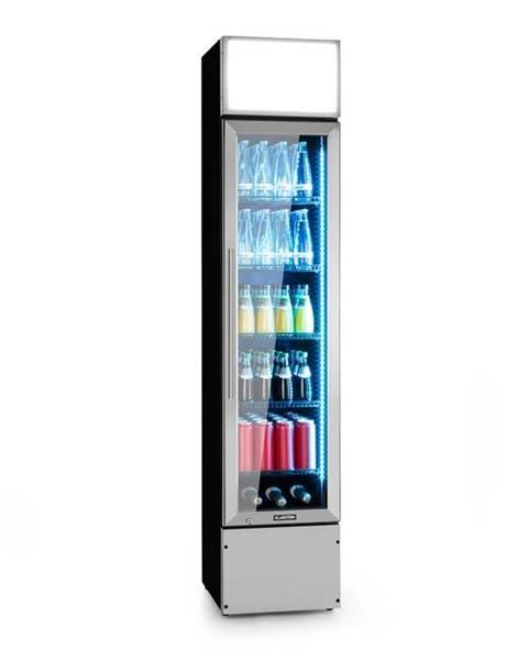 Klarstein Klarstein Berghain, chladnička na nápoje, 160 l, RGB vnútorné osvetlenie, 230 W, 2 – 8 °C, ušľachtilá oceľ