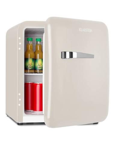 Klarstein Audrey, mini retro chladnička, 48 l, 2 úrovne, A+, krémová