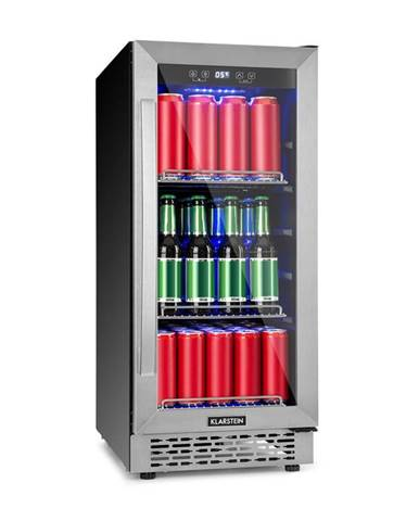 Klarstein Beerlager 88, chladnička na nápoje, 88 l, 33 fliaš, energetická trieda A, ušľachtilá oceľ, čierna