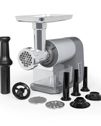 Klarstein Mett Max, elektrický mlynček na mäso, 600 W, medený motor, mleté mäso, klobásky, sivý