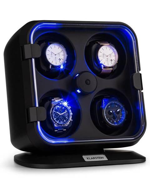 Klarstein Klarstein Clover, naťahovač na hodinky, 4 hodiniek, 3 otáčania, 4 rýchlosti, modré LED osvetlenie, plastový kryt