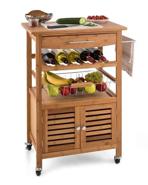 Klarstein Klarstein Louisiana, kuchynský vozík, servírovací vozík, 4 poschodia, bambus