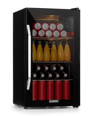 Klarstein Beersafe XXL Onyx, chladnička, A+, LED, 3 kovové rošty, sklenené dvere, onyx
