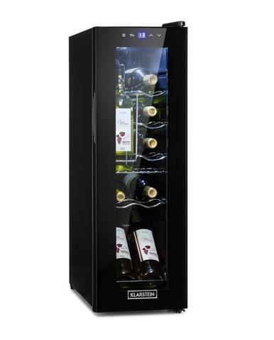 Klarstein Shiraz 12 Slim, vinotéka, 32 l/12 fliaš, dotykový ovládací panel, 85 W, 5 – 18 °C