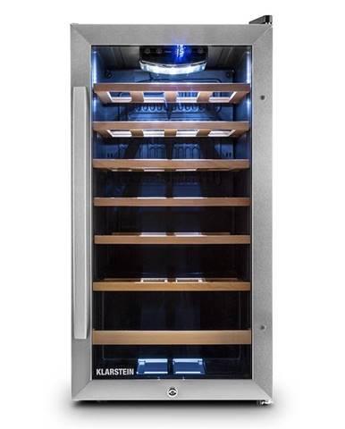 Klarstein Vivo Vino 26, 88 litrov, chladiaca vinotéka, 26 fliaš, čierna, LED