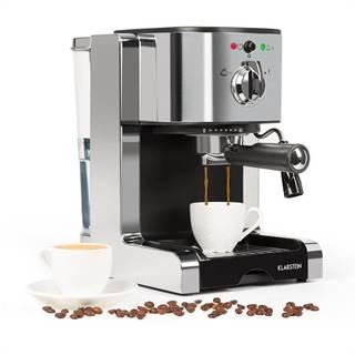 Klarstein Passionata 15, espresso kávovar, 15 barov, capuccino, mliečna pena, strieborný