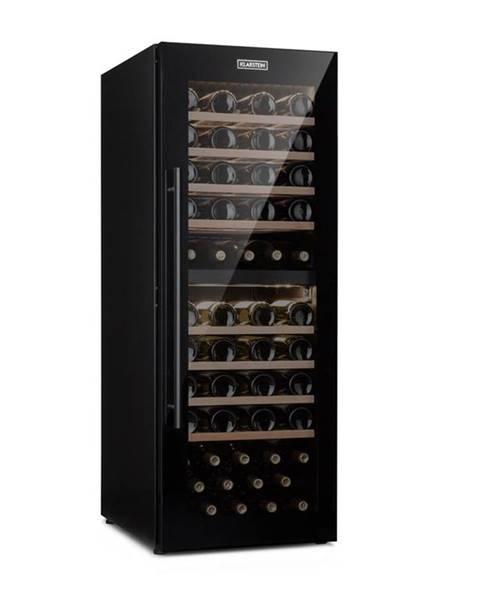 Klarstein Klarstein Barossa 77 Duo, vinotéka, 2 zóny, 191 l, 77 fliaš, dotyková, LED, čierna
