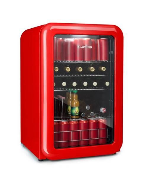 Klarstein Klarstein PopLife, chladnička na nápoje, chladnička, 115 litrov, 0 - 10 °C, retro dizajn, červená