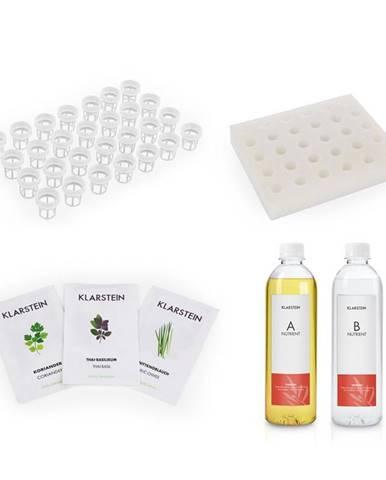 Klarstein GrowIt Refill Kit Asia, špongiový panel, rastlinné košíky, Asia Seeds, živný roztok