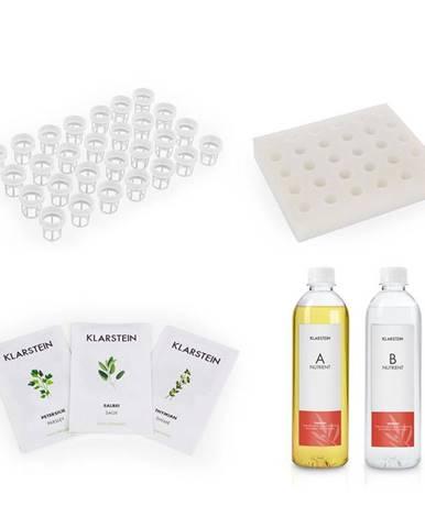 Klarstein GrowIt Refill Kit Europe, špongiový panel, 28 rastlinných košíkov, Europe Seeds, živný roztok