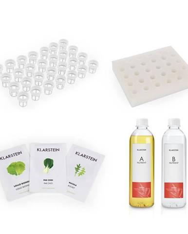 Klarstein GrowIt Refill Kit Salad, špongiový panel, 28 rastlinných košíkov, Salad Seeds, živný roztok