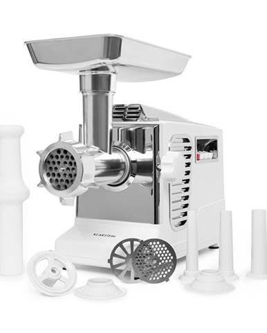 Klarstein Kraftprotz, elektrický mlynček na mäso, 700 W, medený motor, biely/strieborný