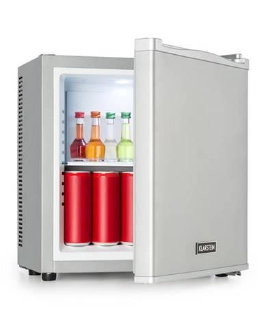 Klarstein Secret Cool, mini chladnička, minibar, 13 l, trieda A+, 0 dB, strieborná