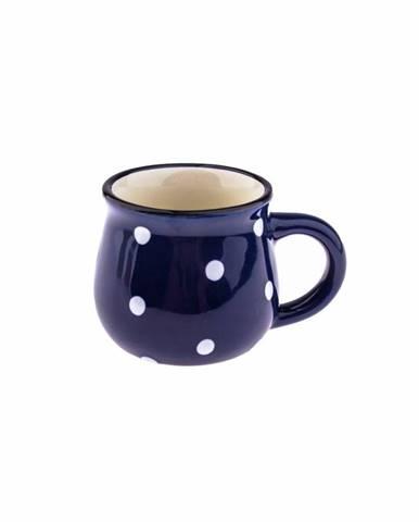 Keramický hrnček Dots 75 ml, modrá