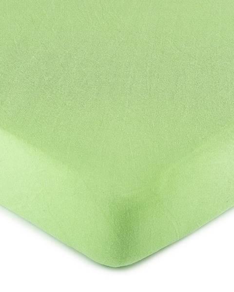 4Home 4Home jersey prestieradlo zelená, 90 x 200 cm