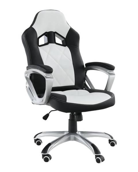 Kondela Kancelárske kreslo ekokoža čierna/biela LOTAR