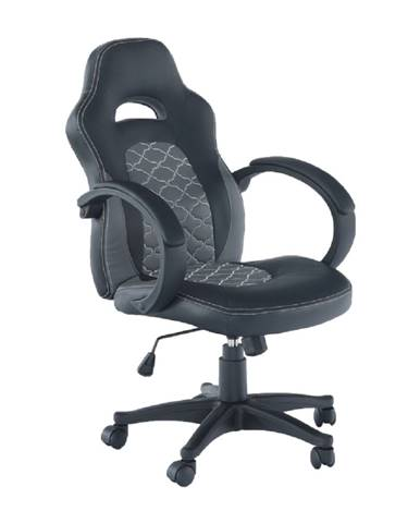 Kancelárske kreslo ekokoža čierna/sivá NELSON