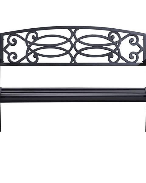 Kondela Záhradná lavička čierna VENDA