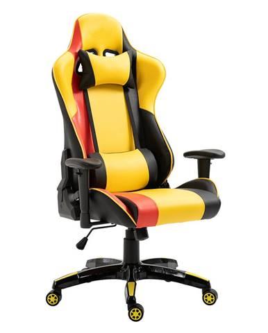 Kancelárske/herné kreslo žltá/čierna/oranžová SOLERO