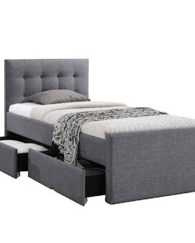Moderná posteľ sivá 90x200 VISKA NEW