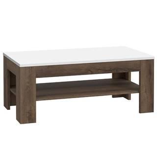 Konferenčný stolík White Sea dub šľachtený/biely lesk
