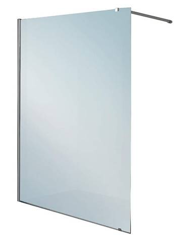 Pevná stena Nikola 120/200 chrom zrkadlový efekt