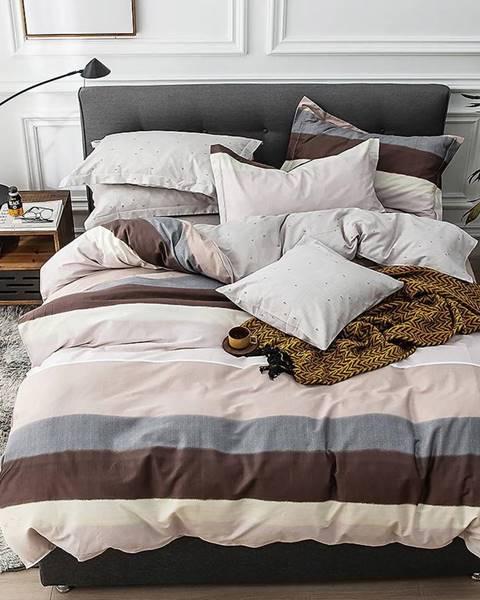 MERKURY MARKET Bavlnená saténová posteľná bielizeň ALBS-01095B 160X200