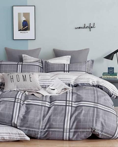MERKURY MARKET Bavlnená saténová posteľná bielizeň ALBS-01241B 160X200