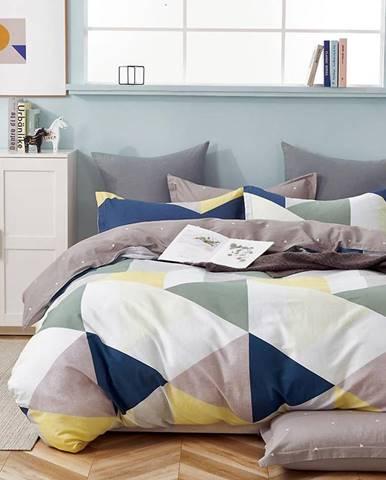 Bavlnená saténová posteľná bielizeň ALBS-01233B 140X200