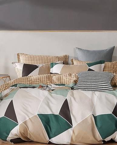 Bavlnená saténová posteľná bielizeň ALBS-01238B 140X200