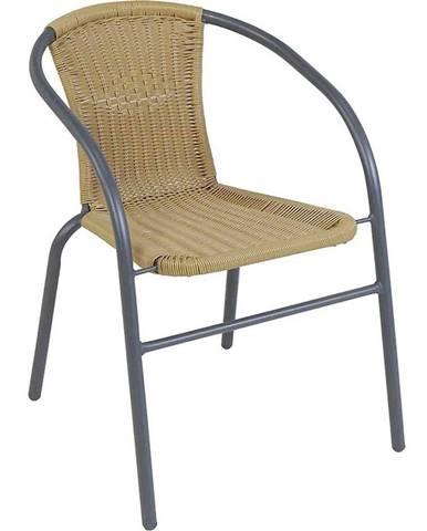 Ratanová stolička Bistro tmavo hnedá