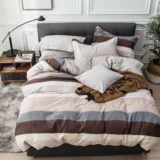 Bavlnená saténová posteľná bielizeň ALBS-01095B 160X200