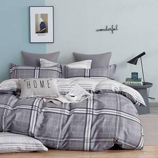 Bavlnená saténová posteľná bielizeň ALBS-01241B 160X200