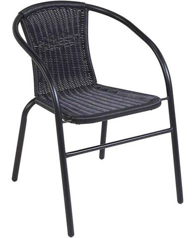 Ratanová stolička Bistro čierna