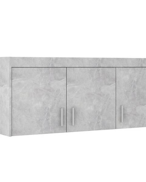 MERKURY MARKET Nadstavec na skriňu Elena 3D beton