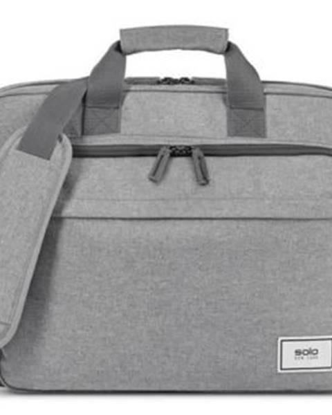 SOLO NY Taška na notebook SOLO NY RE: NEW Briefcase, sivá