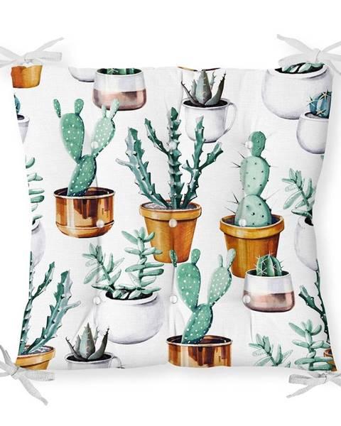 Minimalist Cushion Covers Sedák s prímesou bavlny Minimalist Cushion Covers Cactus in Pot, 40 x 40 cm