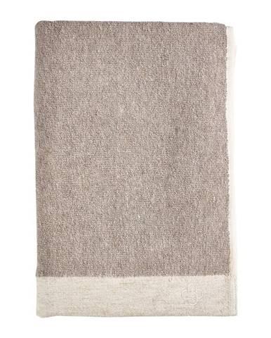 Hnedá osuška s prímesou ľanu Zone Inu, 140 x 70 cm