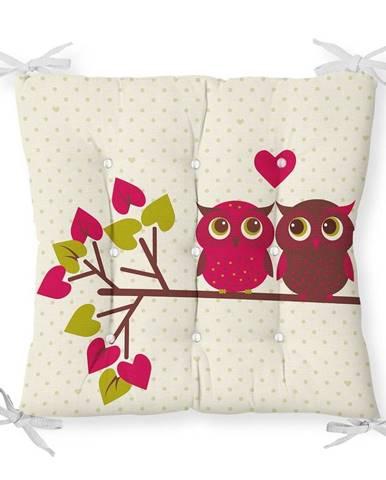 Sedák s prímesou bavlny Minimalist Cushion Covers Lovely Owls, 40 x 40 cm