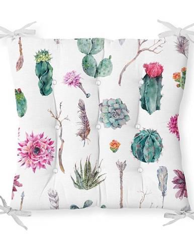 Sedák s prímesou bavlny Minimalist Cushion Covers Succulent, 40 x 40 cm