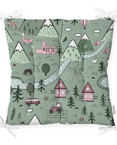 Sedák s prímesou bavlny Minimalist Cushion Covers Village, 40 x 40 cm
