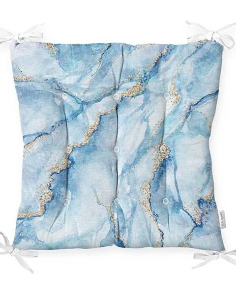 Minimalist Cushion Covers Sedák na stoličku Minimalist Cushion Covers Marble Blue, 40 x 40 cm