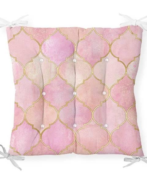 Minimalist Cushion Covers Sedák s prímesou bavlny Minimalist Cushion Covers Pinky Oriental, 40 x 40 cm