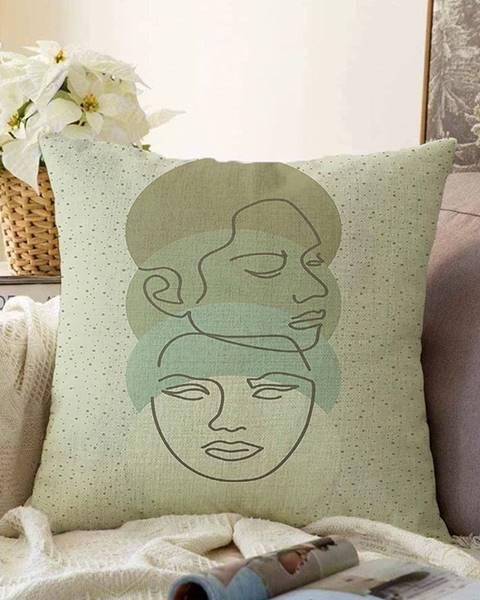 Minimalist Cushion Covers Zelená obliečka na vankúš s prímesou bavlny Minimalist Cushion Covers Chenille, 55 x 55 cm